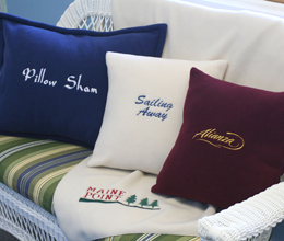 Personalized Pillows and Blanket